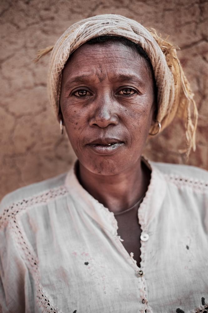 A woman in rural central Madagascar.