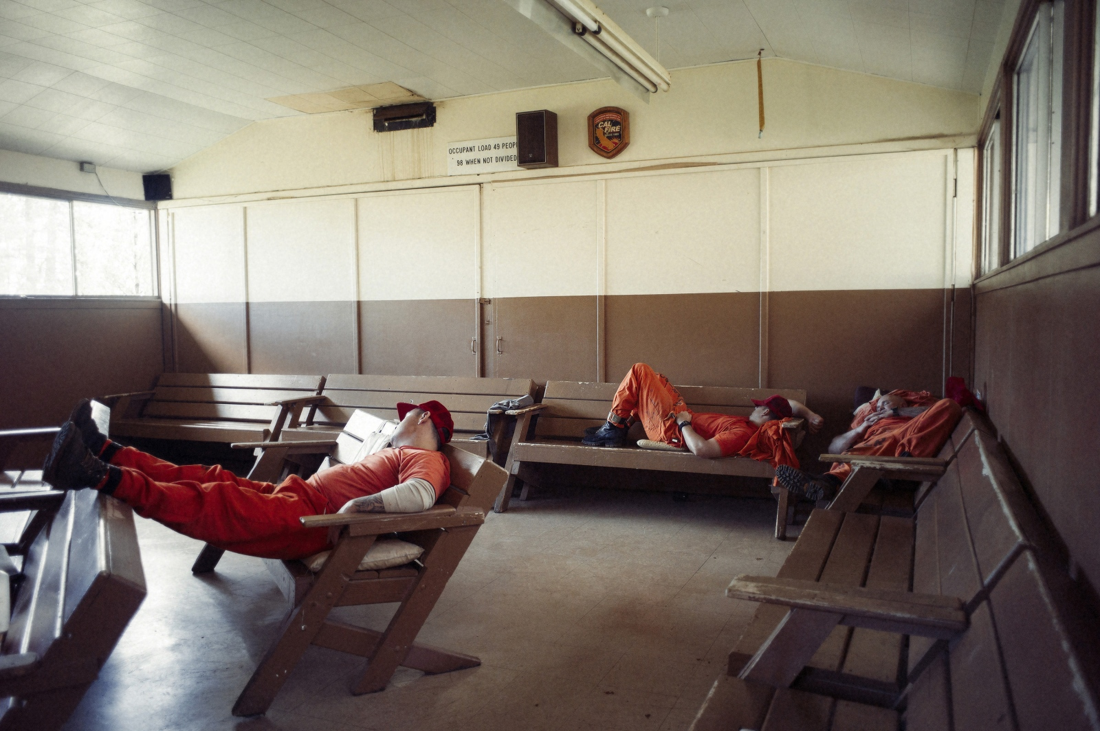A percentage of inmates must remain dressed, ready and on-call for fires at all times, throughout the day as they can be called on at any time by Cal Fire to assist on anything from a fire to a medical emergency.