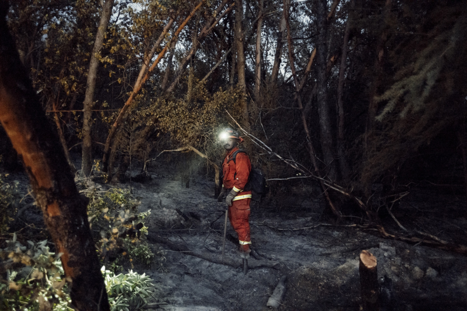 Inmates work 24 hour shifts when on a fire, both day and night, often sleeping in the wilderness, before then getting 24 hours of down time before heading back to fight more fire.