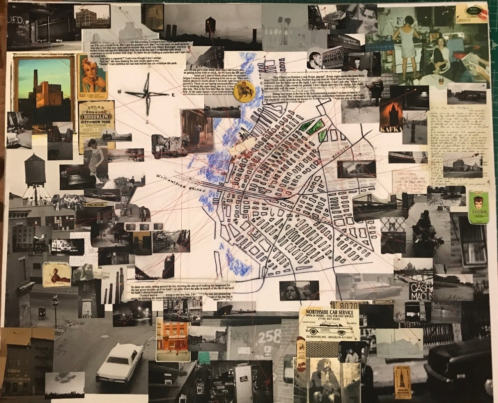 Photography image - Large size collage of my personal journey during the 90's in Williamsburg, Brooklyn.