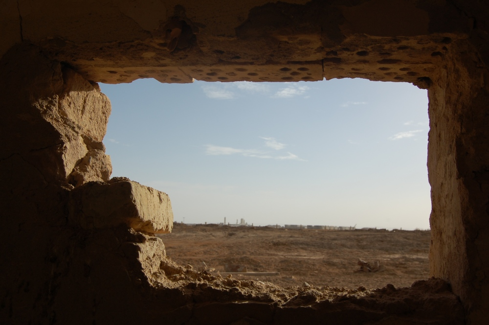 Photography image - A sniper's nest outside of Talil Air Base in Nasiriyah, Iraq. May 2009.