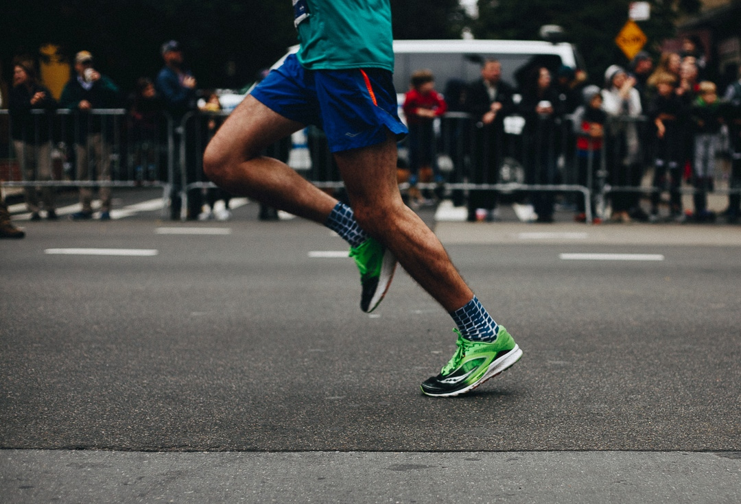 A runner sprints through the Upper East Side during the 2017 New York City marathon. Running through all five boroughs, the New York City Marathon is the largest in the world with 50,766 finishers and nearly 100,000 applicants this year. November 5, 2017.
