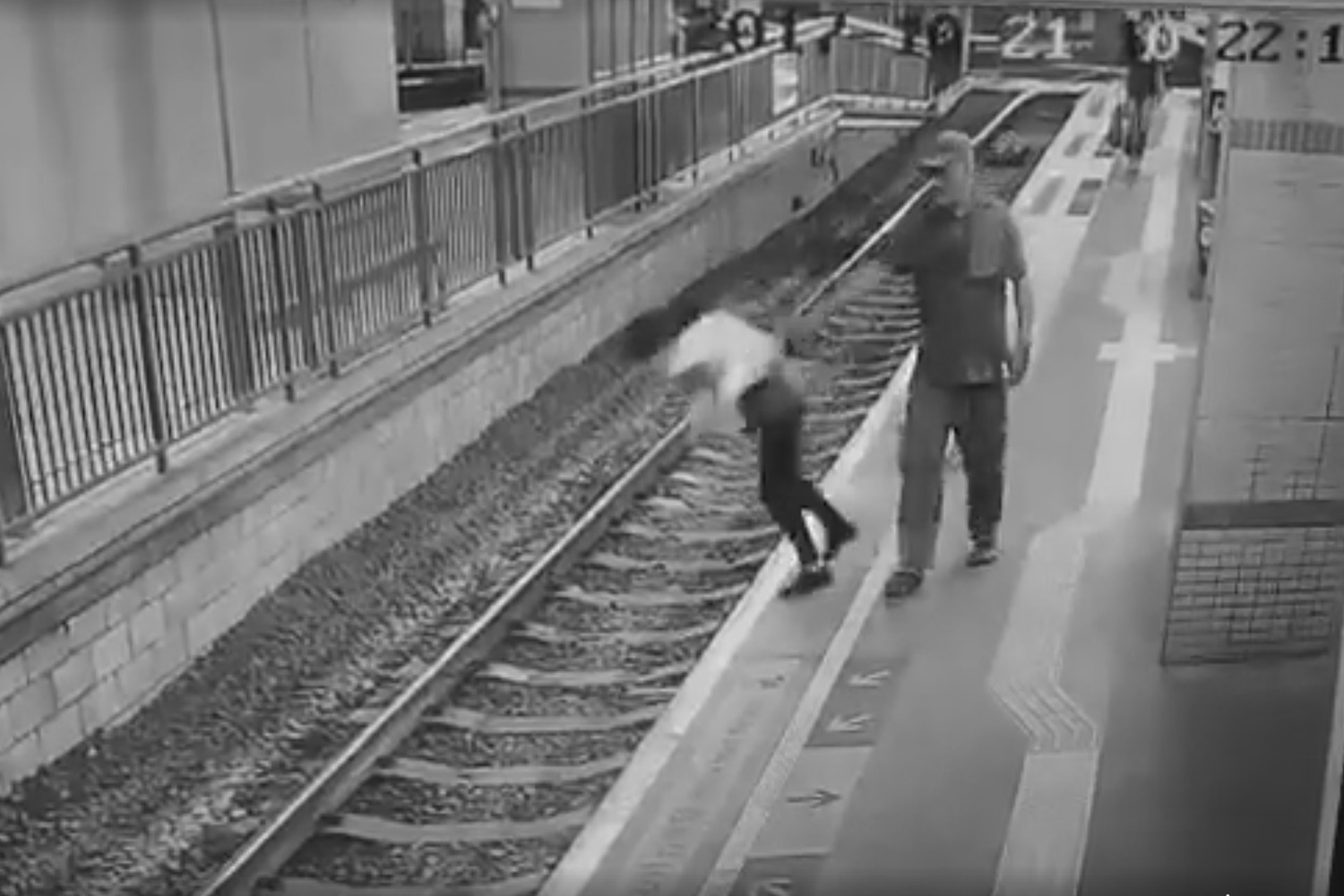 Scene recorded from surveilance camera