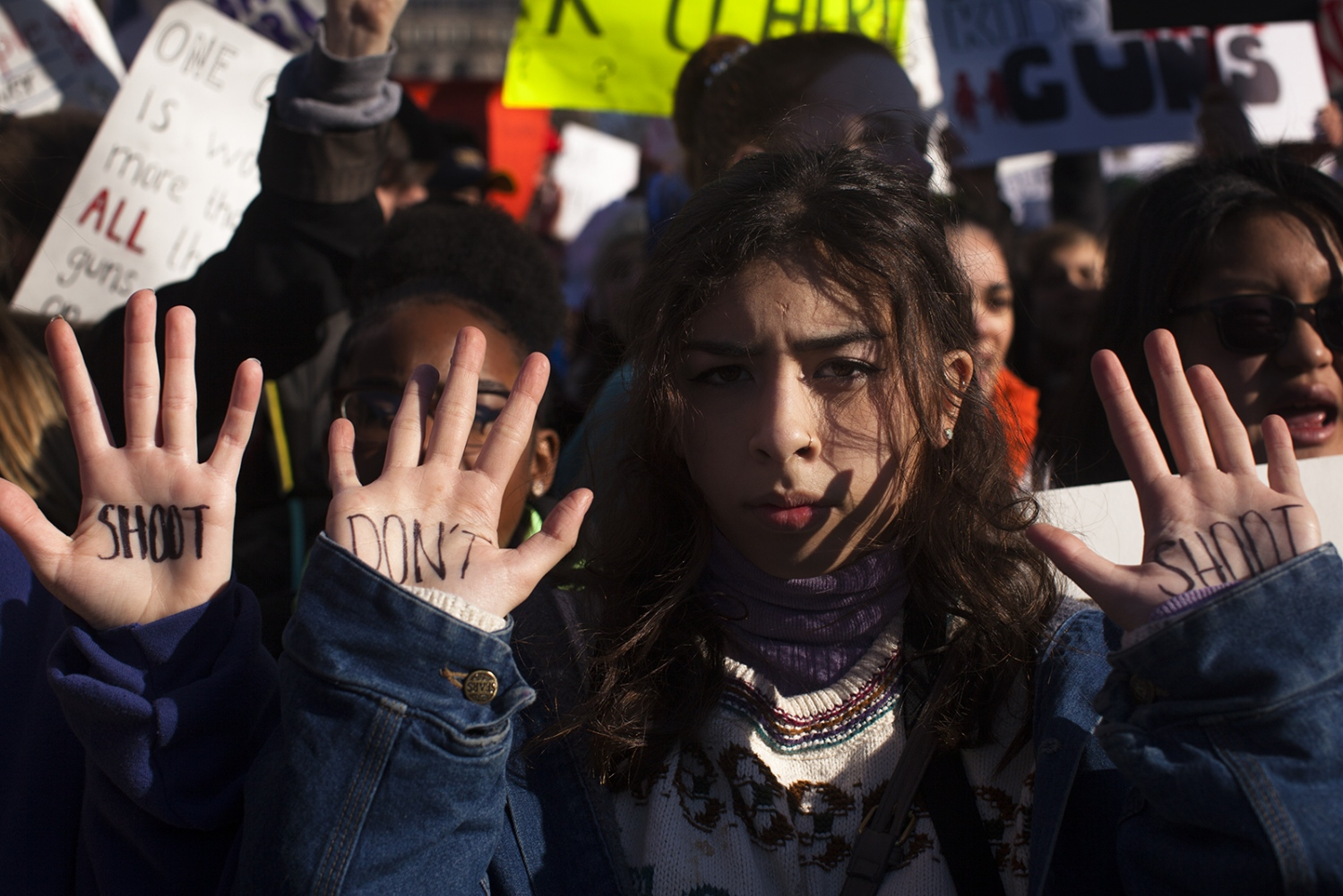 Students from the Washington D.C. metro area gather in front of the White House on March, 14th to protest gun violence.