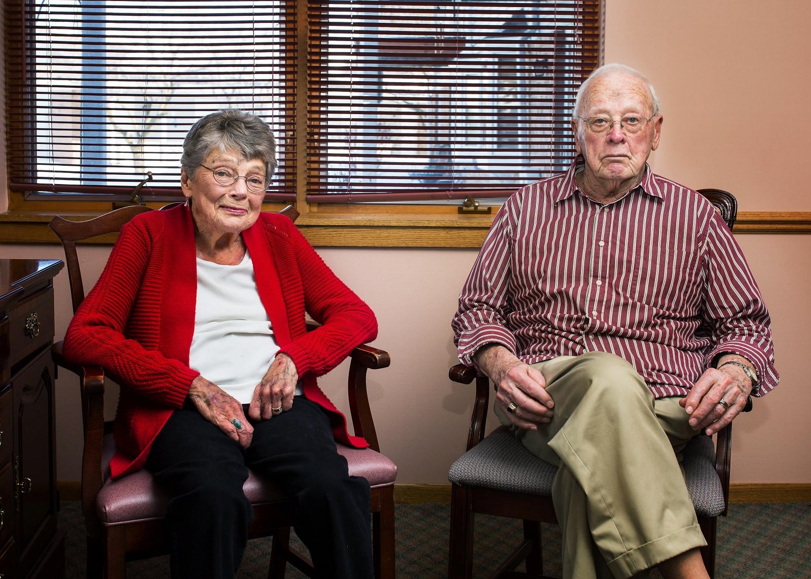 "Ethel Reiff, 92, and Ray Reiff, 91, married 70 years Ethel: ""I grew up in a family of 13, so I guess I was never, ever lonely."" Ray: ""I was ornery and mean."" Ethel: ""We met when my older sister was married."" Ray: ""Yeah, that could be."""