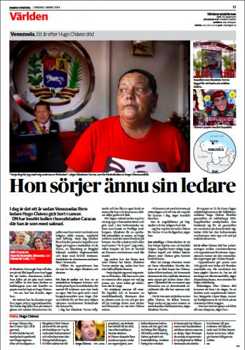 Dagens Nyheter, March 2014