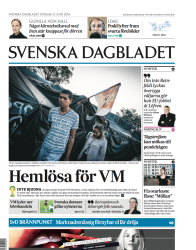 Svenska Dagbladet, June 2014