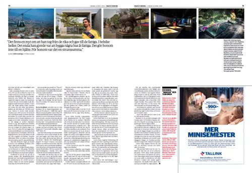 Dagens Nyheter Magazine, April 2016