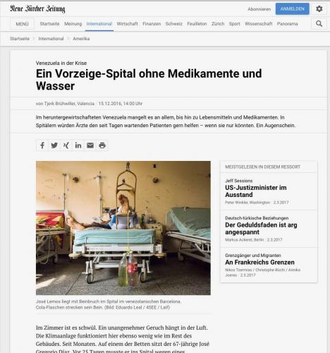 Neue Zurcher Zeitung,December2016