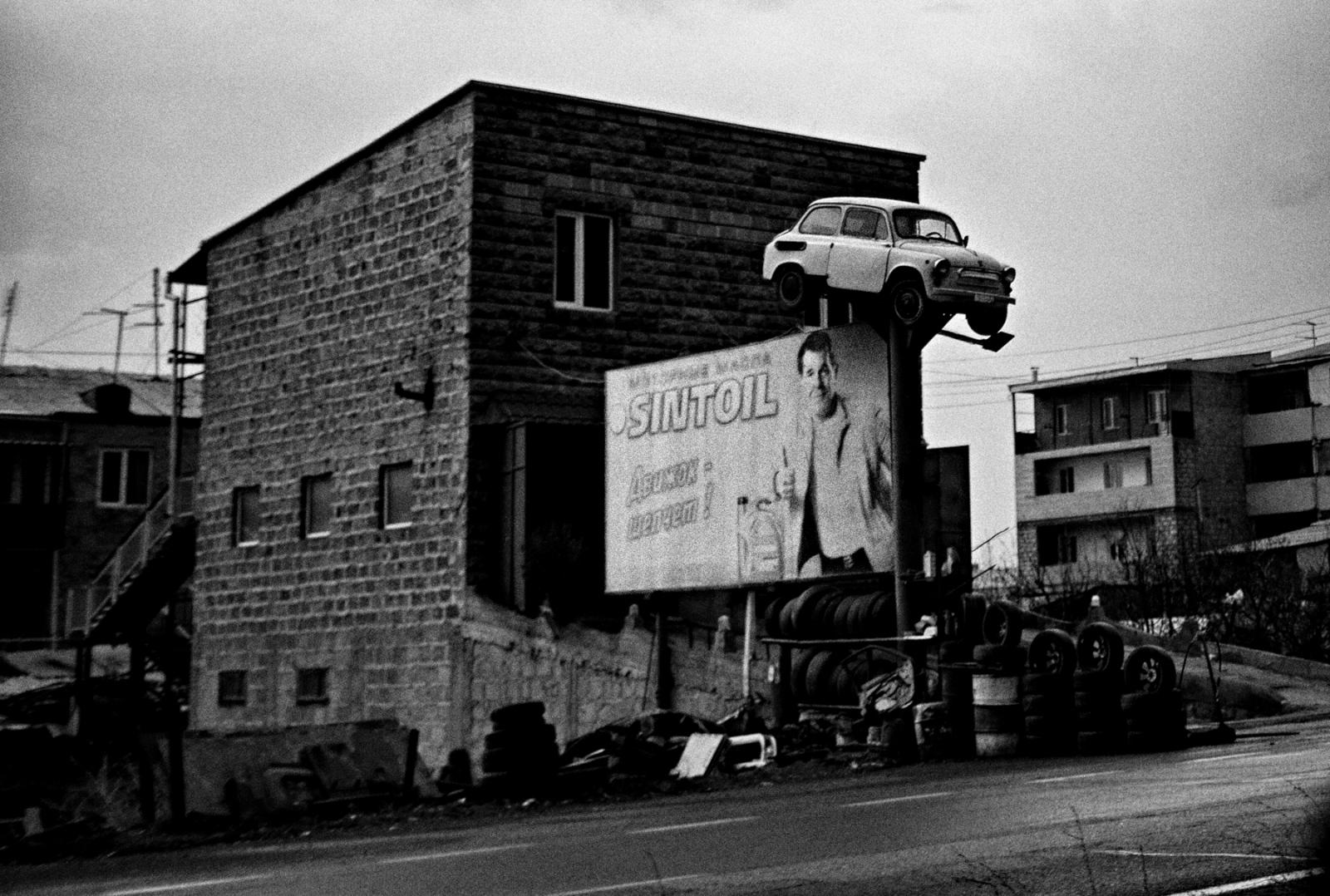 A mechanic shop on the road from Yerevan to Ashtarak, Armenia.