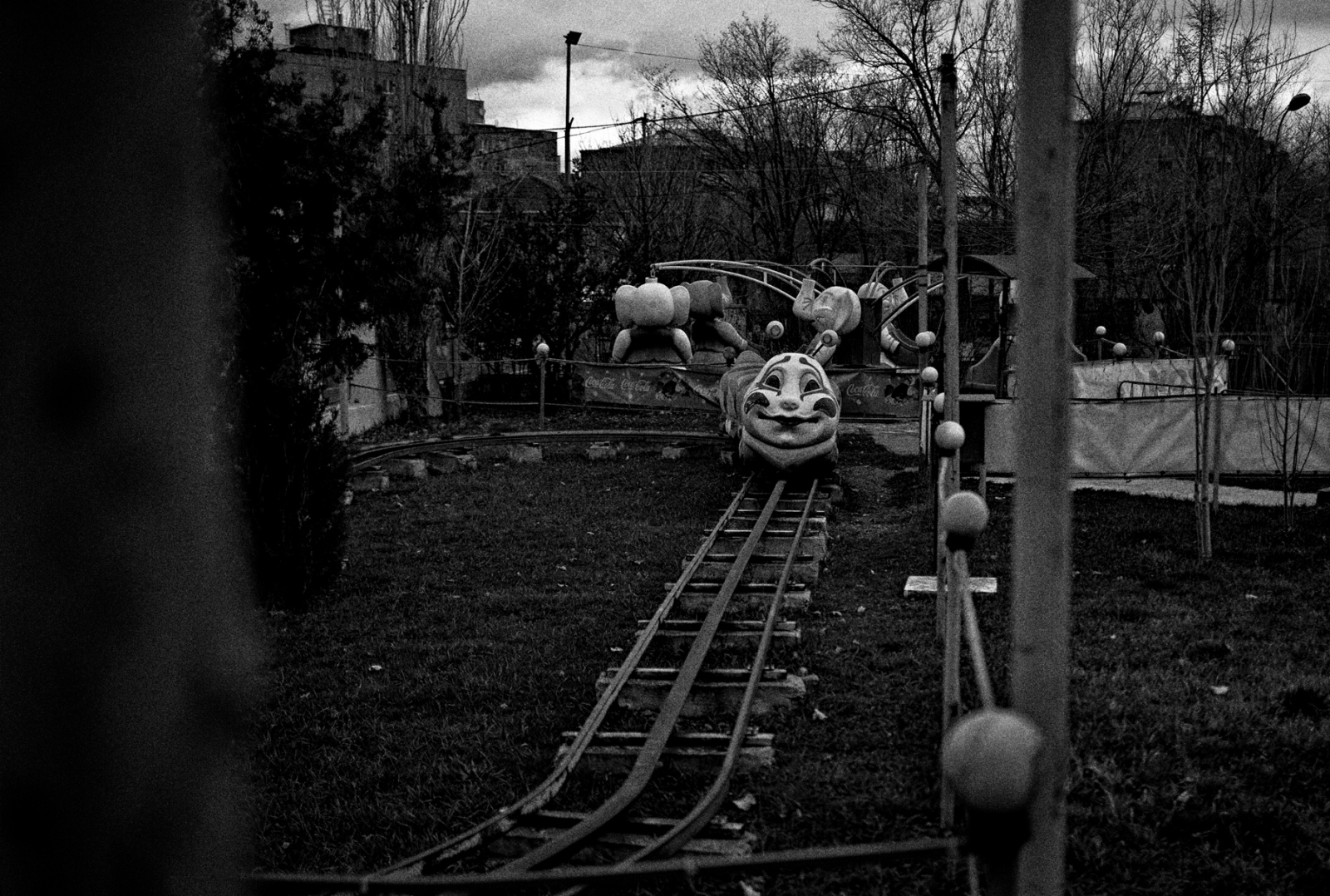 An amusement park closed for the season in the Capital City of Yerevan, Armenia.