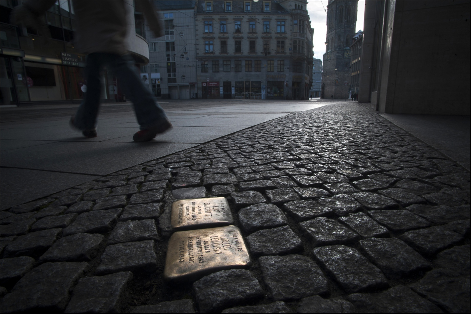 The stolperstein art project was initiated by...