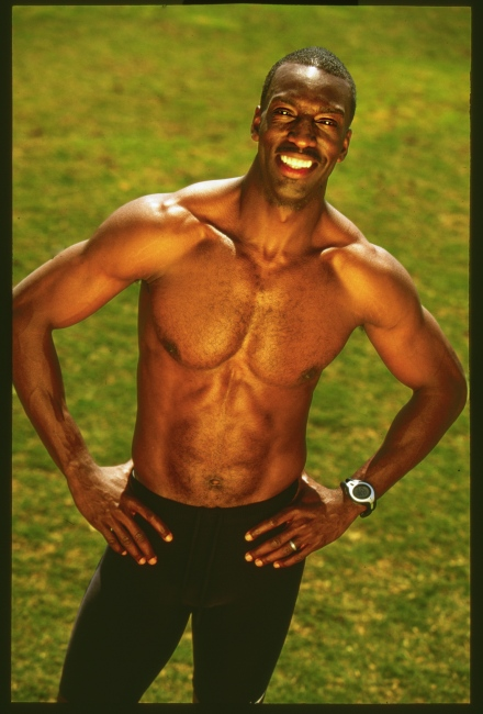 Olympic Champion Michael Johnson. For NIKE.