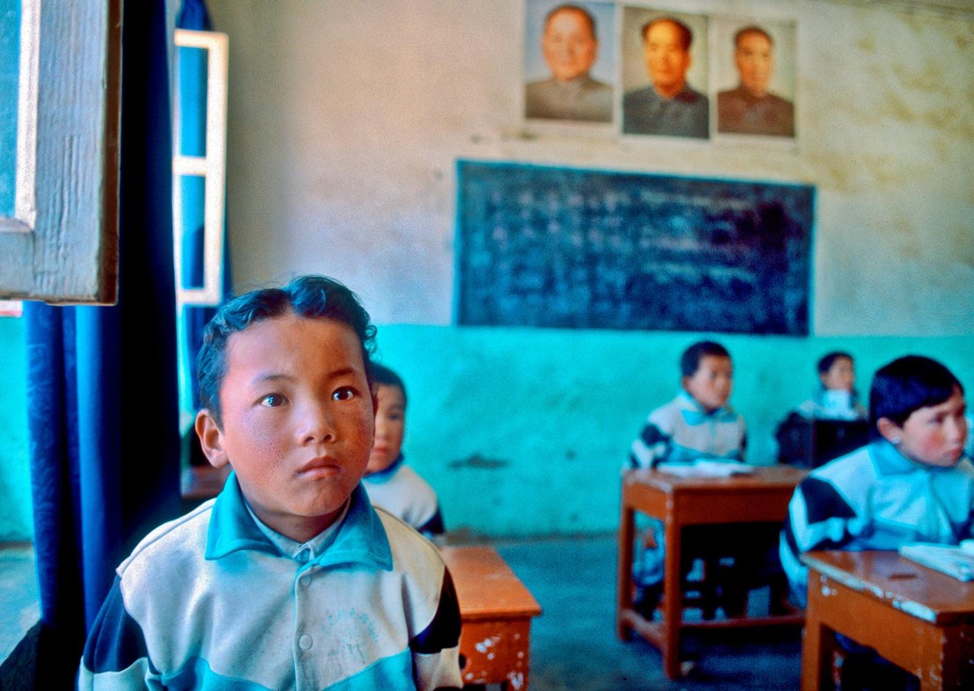 Junior classroom, Tibet