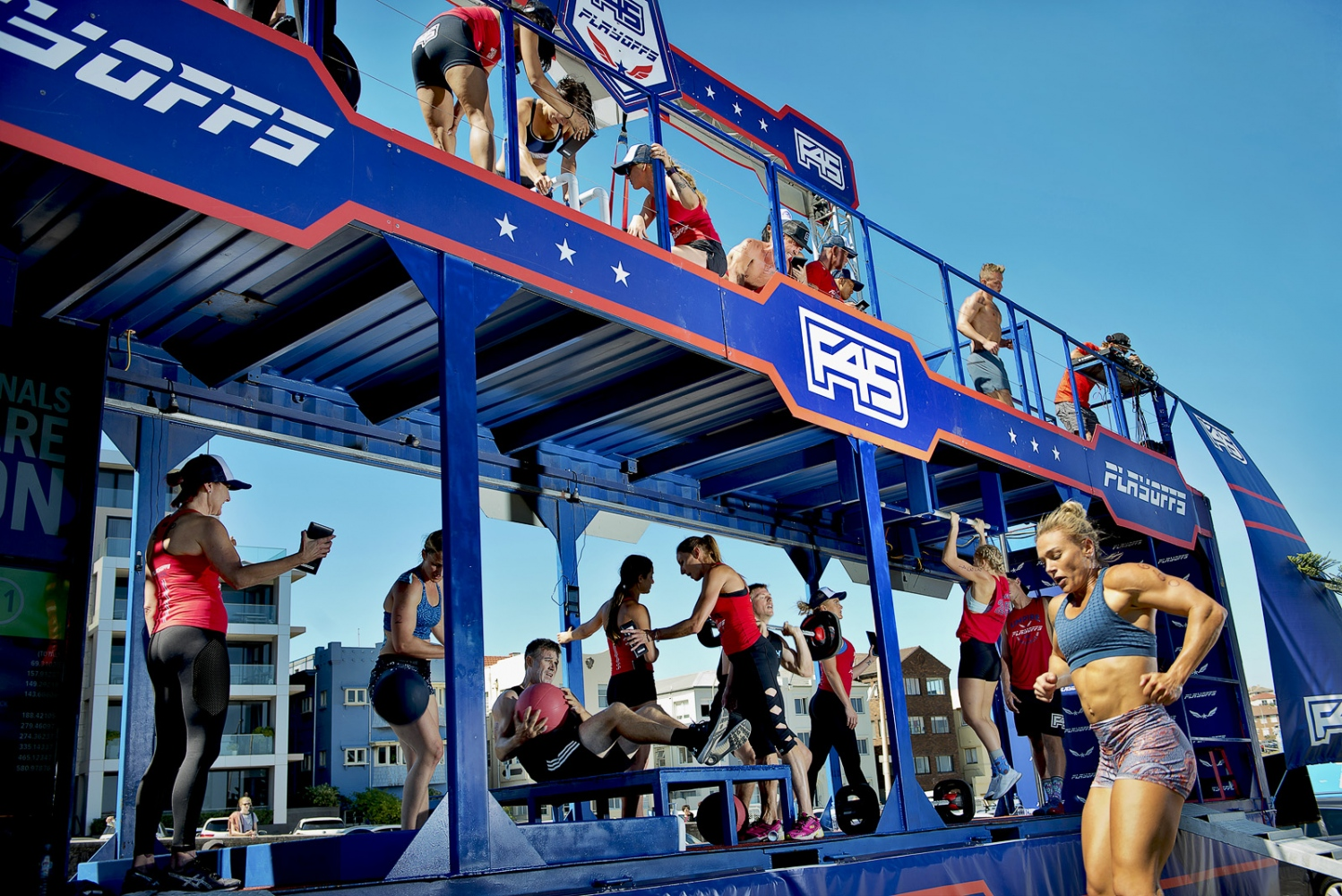 F45 competition finals, Bondi, NSW.