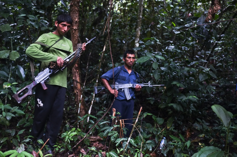 Photography image - Members of the Shining Path terrorist group.