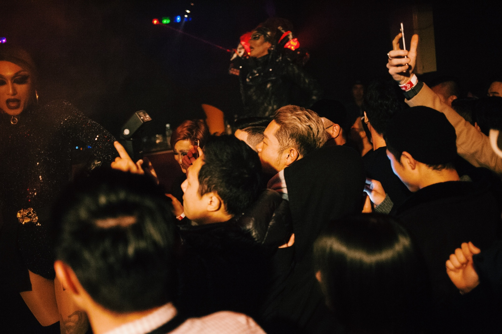 The crowd at a drag show featuring Kuciia and Charlotte Goodenough at Club Trunk, Itaewon, as a part of a fundraising party toward HIV/AIDS awareness.