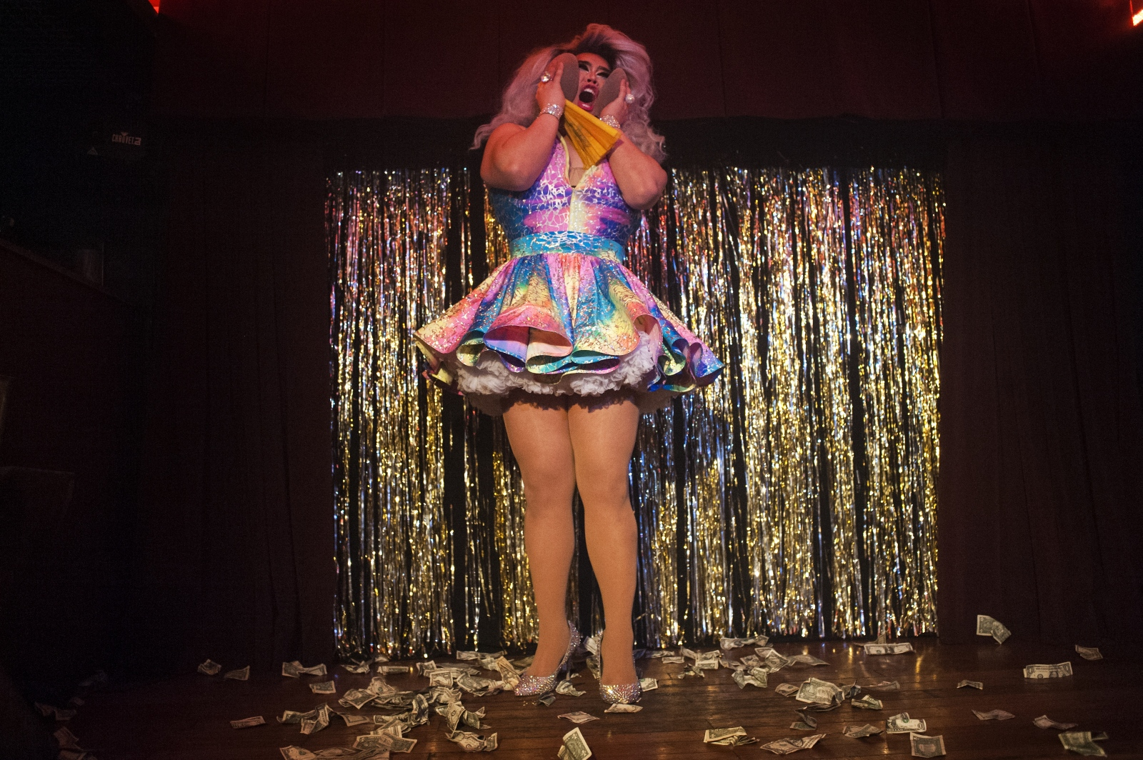 Korean drag queen Jasmine Rice Labeija at Hardware Bar, Hell's Kitchen, New York. Born in Los Angeles, Labeija moved to Korea as a toddler and grew up there until she was 16. During her youth, LGBTQ topics were taboo in Korea -- but more than that, it was unheard of, and most people didn't think about a queer community existing in the world or in Korea.