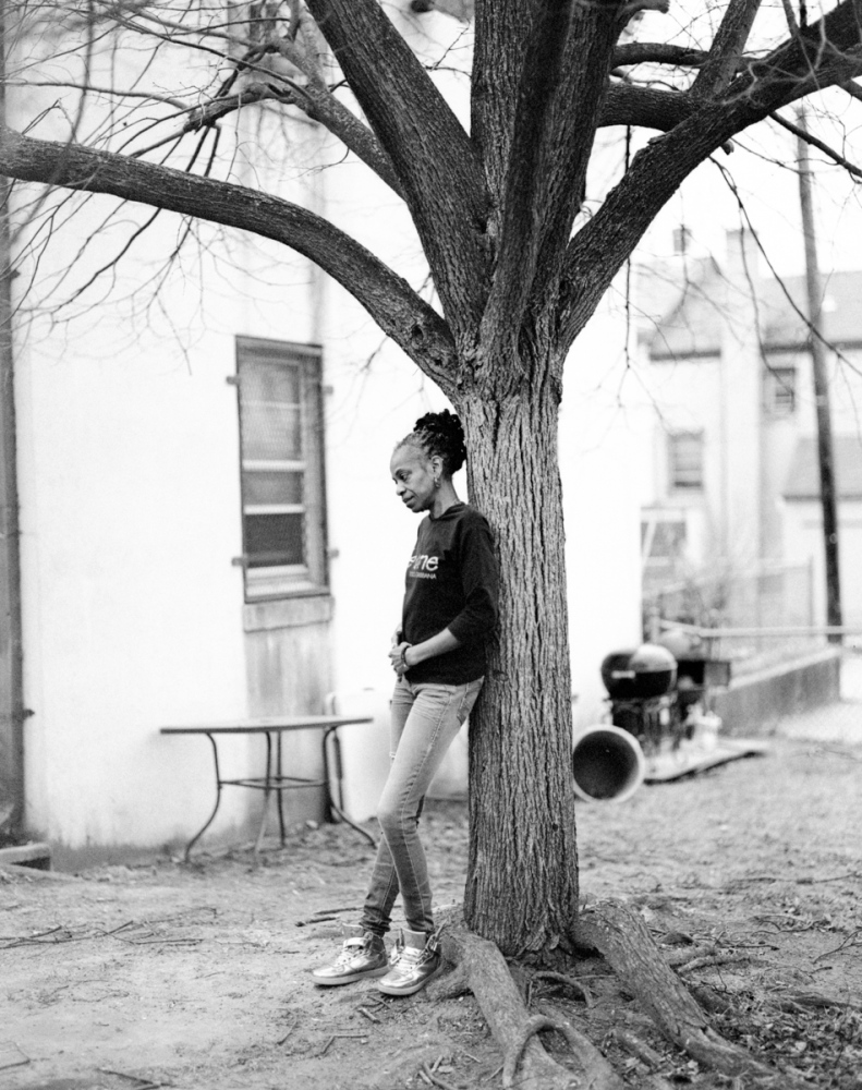 """Paulette (2/2) """"When people think about public housing, everyone stereotypes people. Everything has a label. Low-income. Middle income. This and that. That's where the problem comes in. People don't even know people but because of their zip code, they just assume the worst of the worst. The thing is, sometimes in the deep trenches, there are so many rich diamonds."""" Paulette is an activist. She's lived in Barry Farm for over 20 years."""