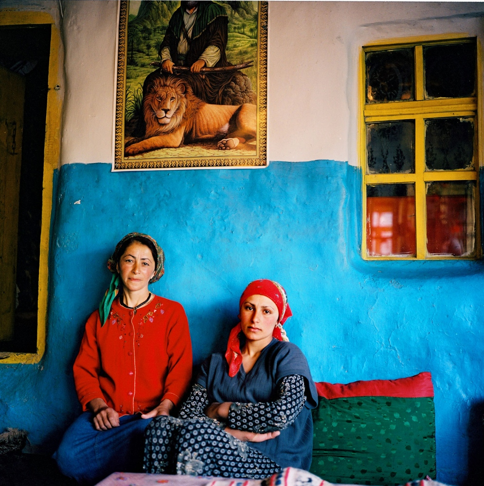 Sisters in law at home in Khinaliq village, Azerbaijan. 2006