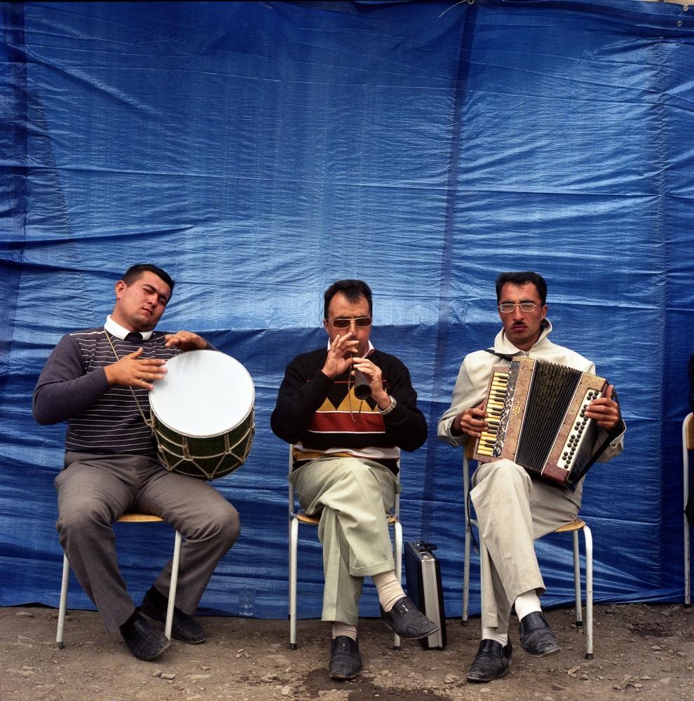 Wedding musicians. Khinaliq, Azerbaijan. 2009