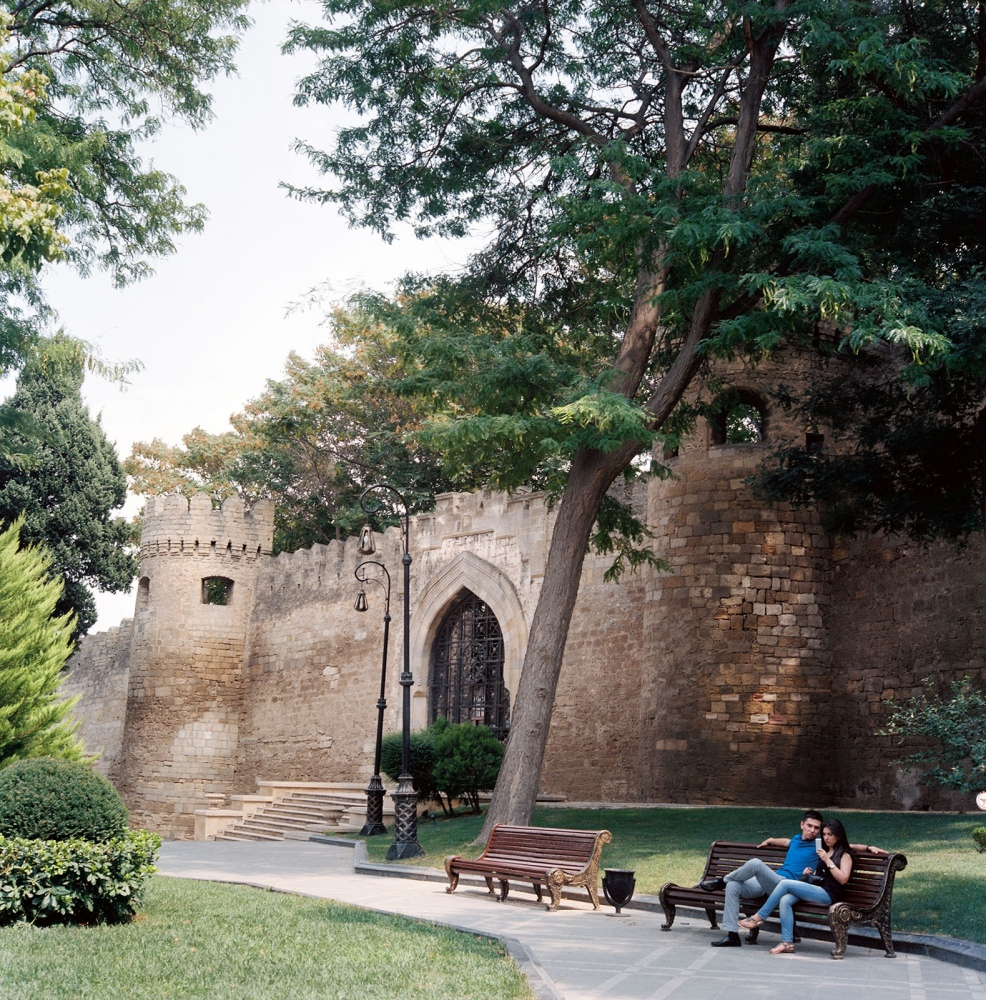 One of the entrances into the medieval fortress city of Icheri Sheher, or Old City of Baku.