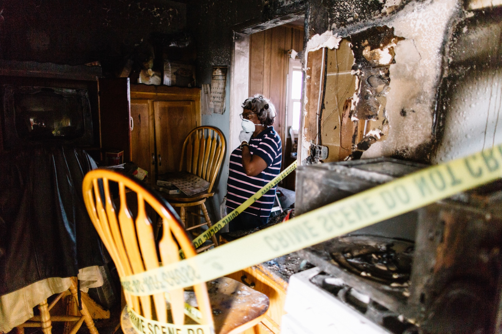 """Dorothy Mulkey"" - Orange County, CA, 2014 Dorothy Mulkey fought for fair housing in Santa Ana in the civil rights era; now she's homeless.  On December 14, 2014, Dorothy Mulkey's home caught fire. The damage made her home uninhabitable. Eli Reyna, a local videographer, met Mulkey while working at the OC Human Relations Commission and began a house fund to support Mulkey."