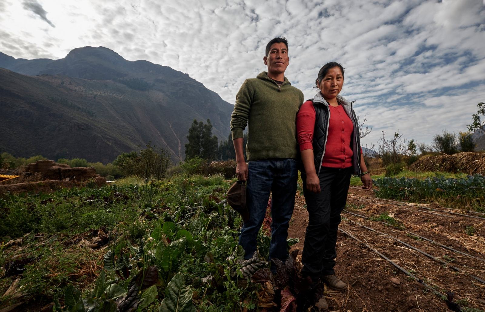 Photography image - Julio Cesar and Yessica Cusiyupanqui on their farm in Calca, Peru.