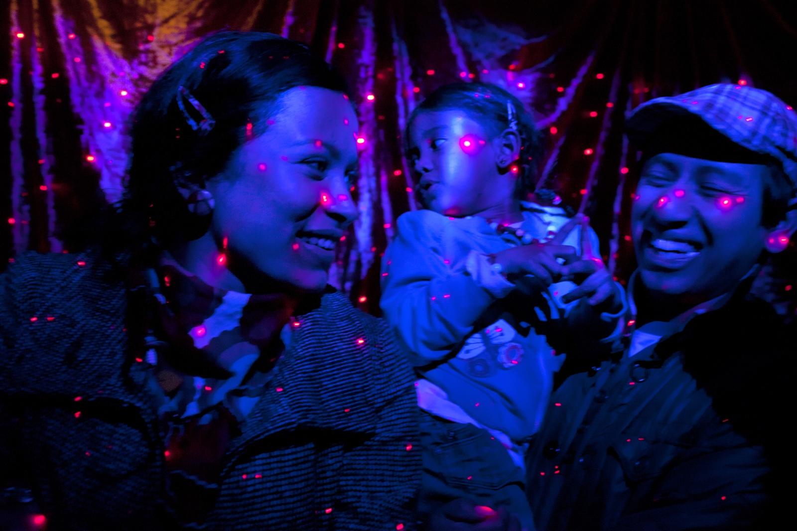 Jackson Heights 's streets celebrating in spanish neigborhood Queens