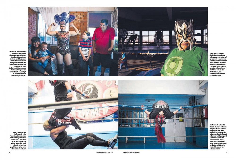 NZZ am Sonntag, The Luchadoras in Mexico City. April 2018
