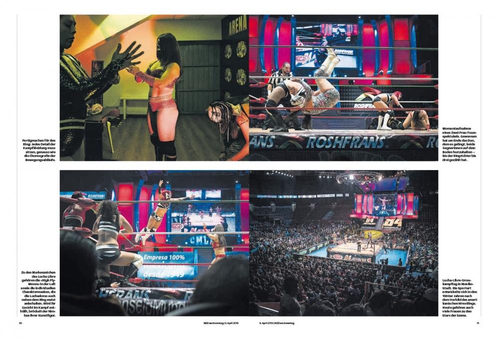 NZZ am Sonntag,TheLuchadoras in MexicoCity.April2018