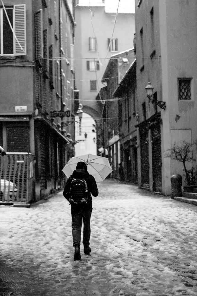 Heavy snow in Bologna