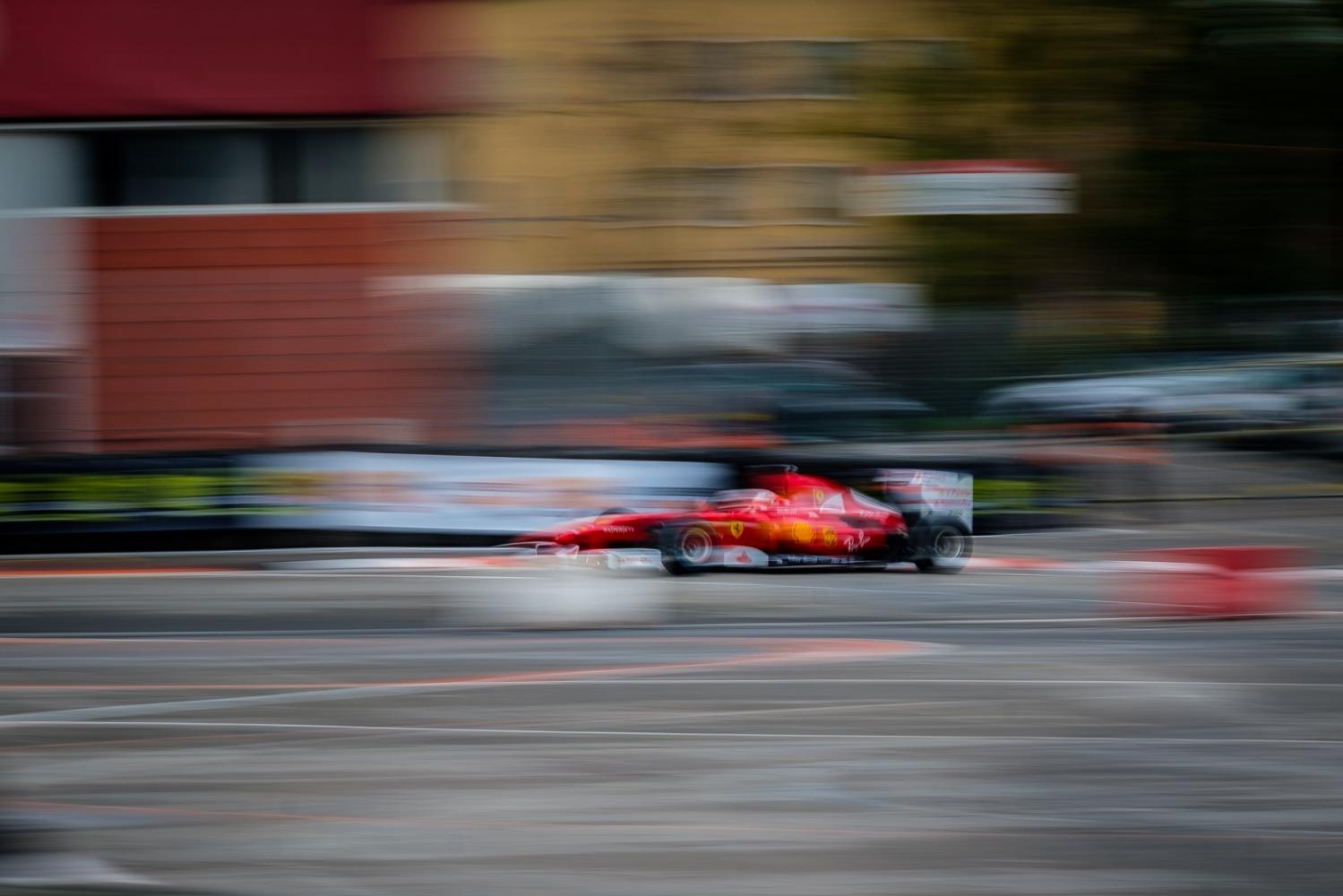 Ferrari F1 car during a show