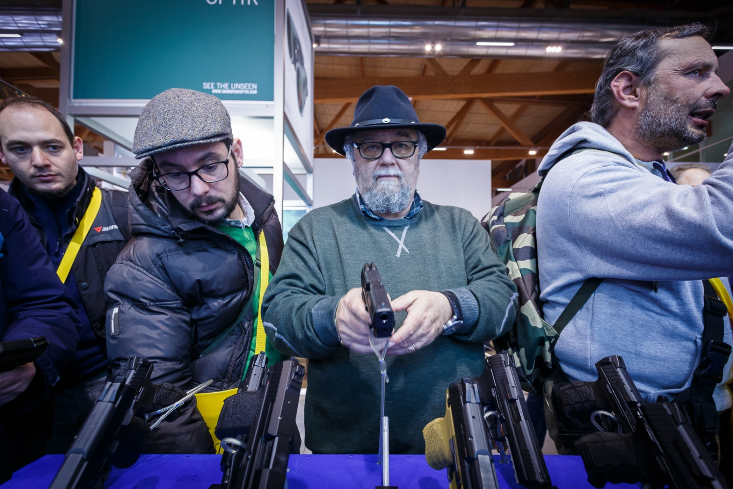The Hit Show 2016 Vicenza, Italy. People at the Hit Show 2016, the most important gun fair in Italy