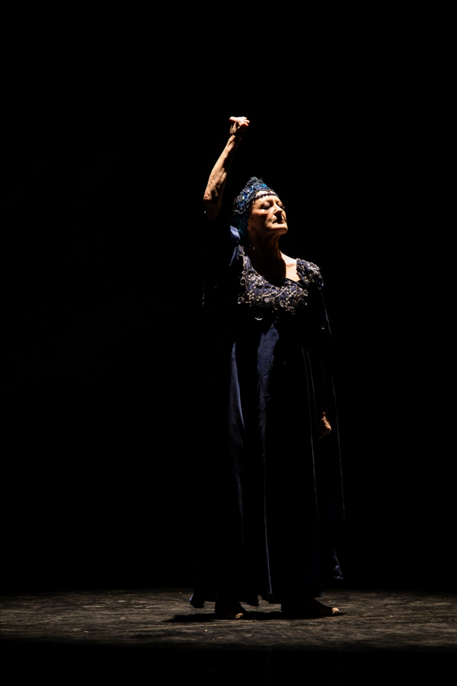 """Carla Fracci during the """"Sheherazade and the Thousand and One Night"""" ballet"""