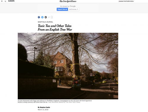 On assignment for The New York Times in Sheffield, United Kingdom.     https://www.nytimes.com/2018/03/13/world/europe/uk-sheffield-trees.html