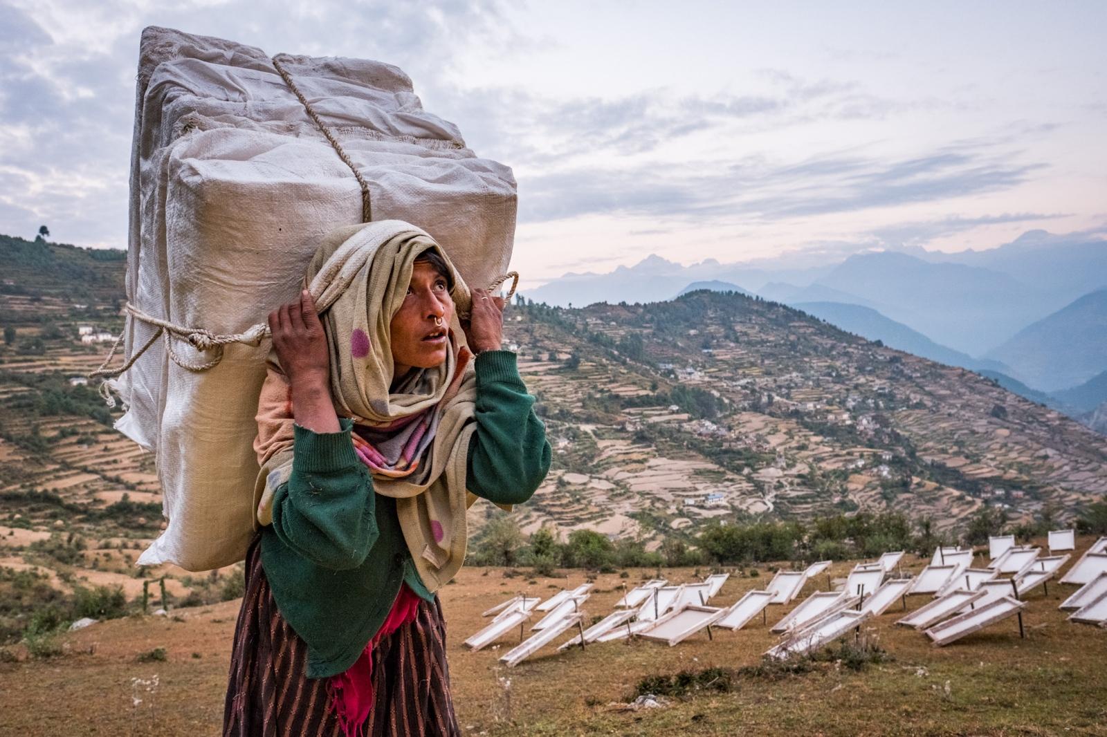 Handmade Paper. Kailas, Nepal.