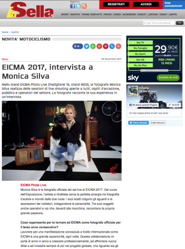 INSELLA Interview Monica Silva EICMA 2017     https://www.insella.it/news/eicma-intervista-monica-silva-143206