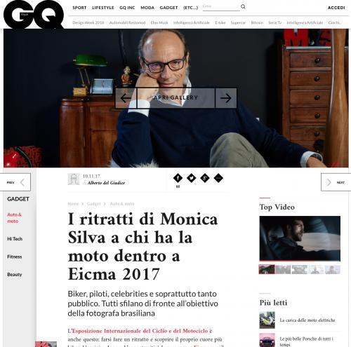 GQ ITALIA MONICA SILVA 2017   https://www.gqitalia.it/gadget/auto-e-moto/2017/11/10/i-ritratti-di-monica-silva-a-chi-ha-moto-dentro-a-eicma-2017/