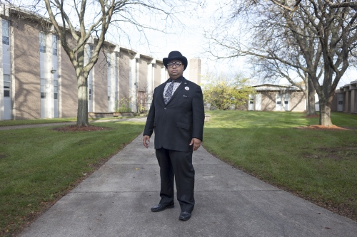 Coleman A. Young II, poses for a portrait after voting, outside the Butzel Family Recreation Center on Tuesday, Nov. 7, 2017 in Detroit, Mich.