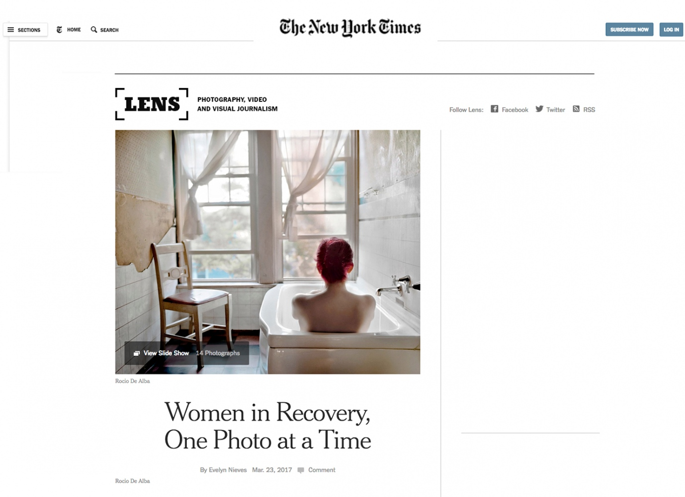New York Times Lens Publication - Click HERE to read full article -