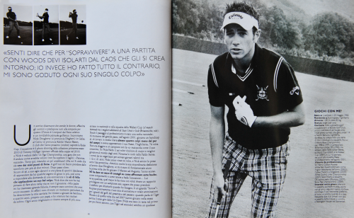 STYLE MAGAZINE  (Corriere della Sera) Nick Dougherty, golf player, Wales 2010