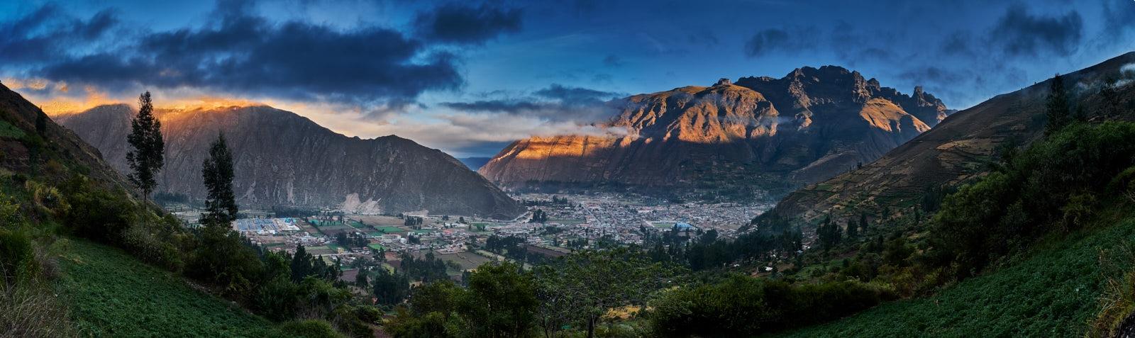 Sunrise over Calca, Peru.