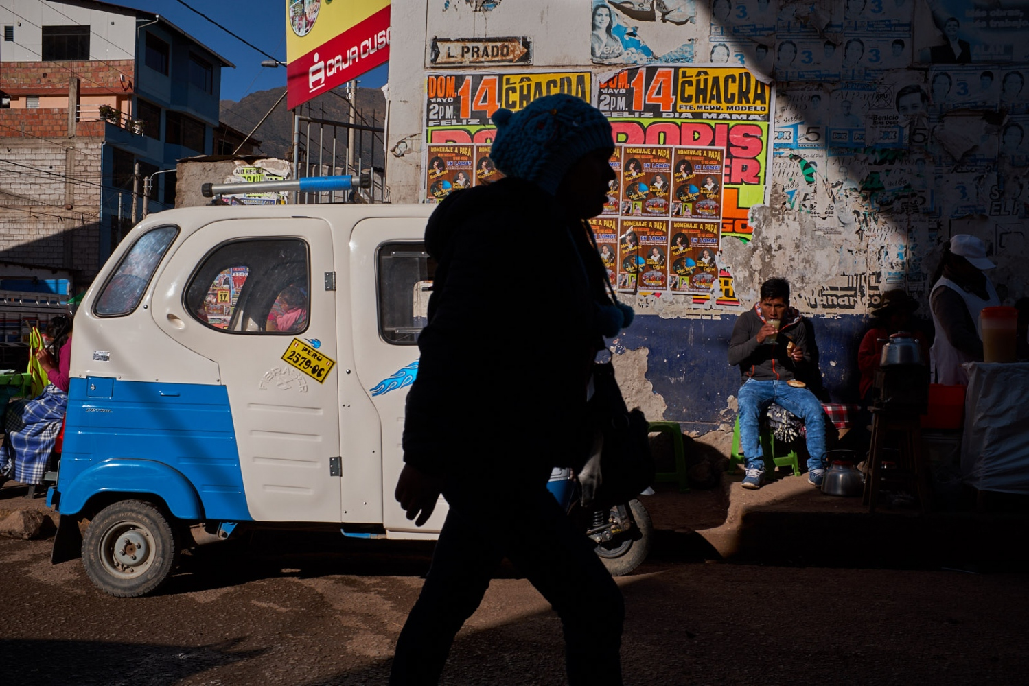 Outside of the Mercado de Calca, Peru..