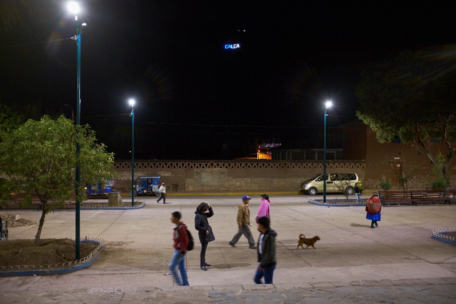 Street scene, Iglesia San Pedro de Calca, Calca, Peru.