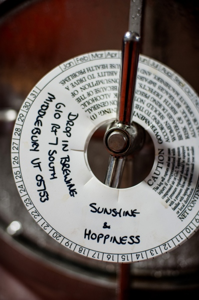 """Sunshine and Hoppiness"" is one of Steve Parke's signature beers at the Drop-In Brewing Company."