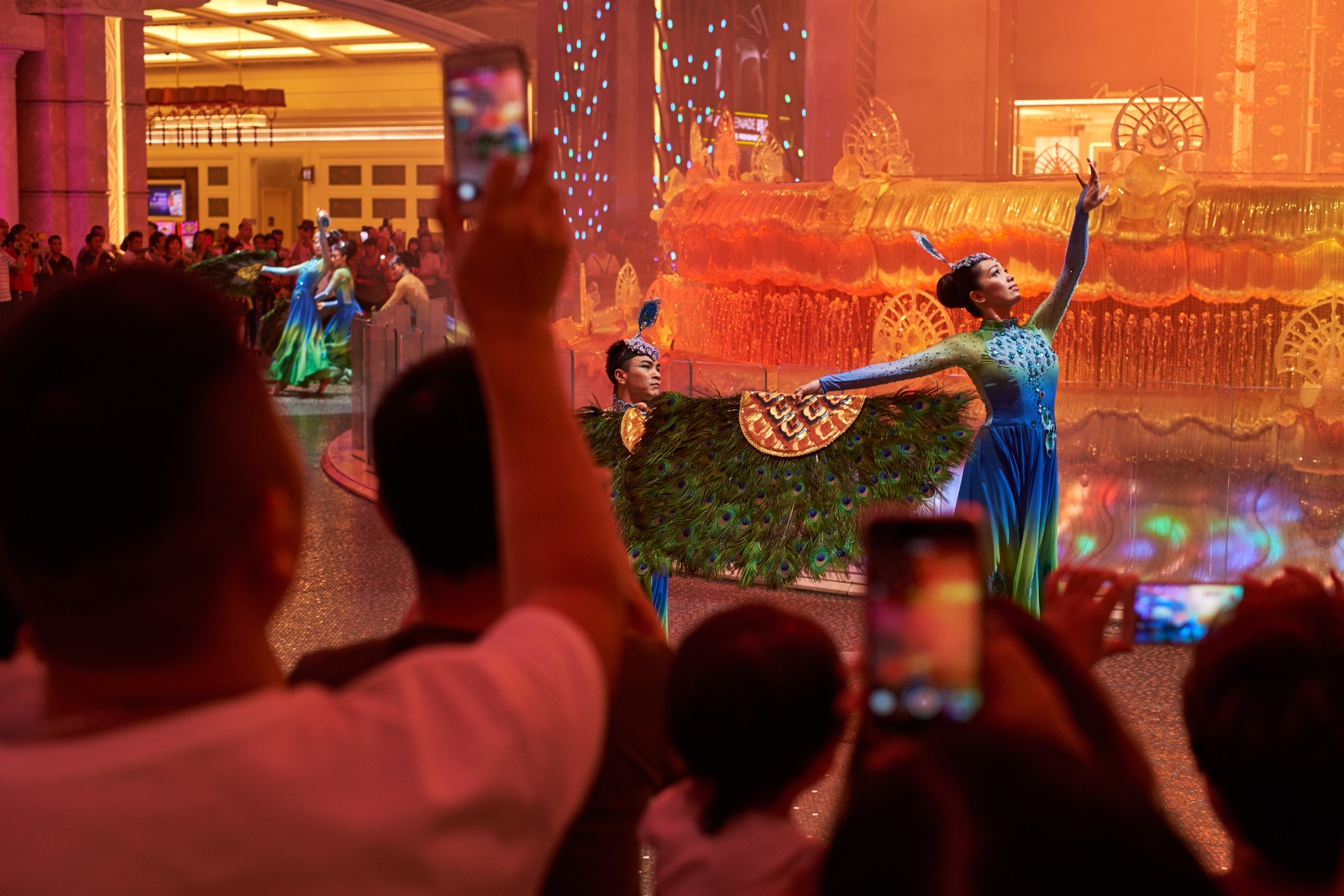 Performers at the Galaxy Casino, Macau.