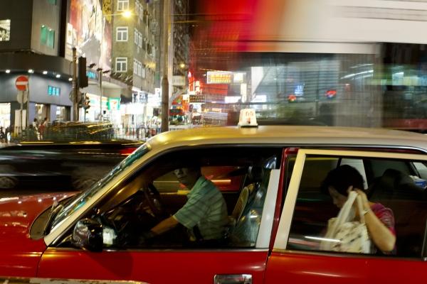 Taxi, Argyle Street, Kowloon, Hong Kong.