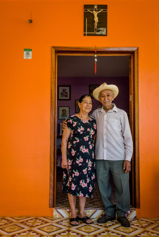 Miguel Garcia and his wife on their coffee farm, Huatusco, Veracruz, Mexico