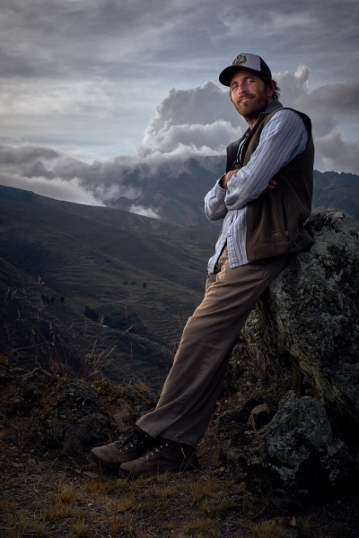 Adam Stieglitz, co-founder of the Andes Alliance for Sustainable Development, in the Urubamba Mountains along the road to Lares, Calca District, Peru.